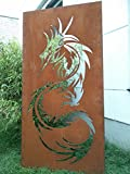 Garten Sichtschutz aus Metall Rost Gartenzaun Gartendeko edelrost Sichtschutzwand 031642-1 150*75*2CM