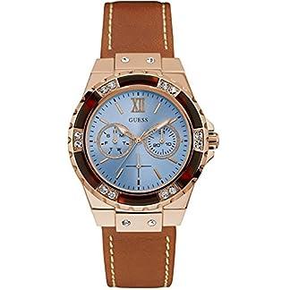 Guess Reloj Análogo clásico para Unisex de Cuarzo con Correa en Cuero W0775L7