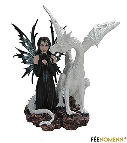 Statuette Fée Hamona avec Dragon Hamon (H50 x L45cm)