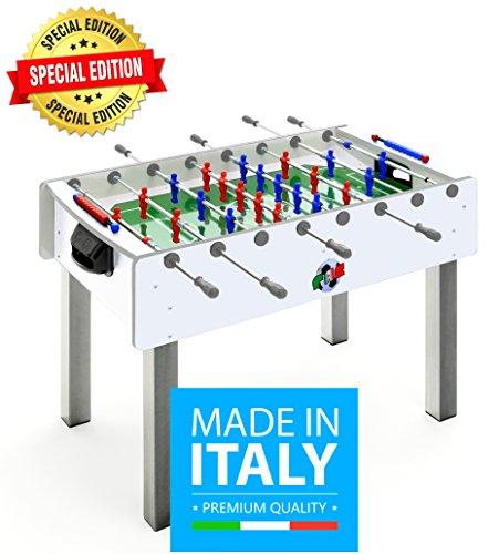 Calciobalilla FAS PRO ITALY BIANCO SPECIAL EDITION Aste Rientranti + Palline + SPRAY LUBRIFICANTE - ESCLUSIVA ITALIA - NOVITA'