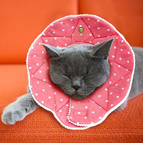 sungrow Pet Cute bequem Konus–Nach Operationen stressfreies Recovery Halsband–langlebig, kratz-, bite-, & wasserabweisend–mit verstellbarem Klett Gehäuse für Hunde & Katzen