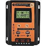 EBTOOLS 12V / 24V 30A50A MPPT Régulateur de Charge Solaire Régulateur de Batterie à Panneau Double Affichage LCD à Cristaux Liquides(30A)