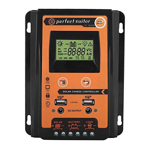 Presupuesto: Corriente: 30A, 50A, 70A (opcional) Voltaje nominal: 12 / 24V Salida USB: 2.4A * 2 Sobre Corriente de Carga (V): 13.7V / * 2 24V Sobre Corriente de Descarga (V): 10.5-11V / * 2 24V Compensación de temperatura: -3mv / ℃ / celda Desecho de...