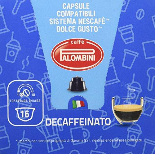 Caffè Palombini Decaffeinato Compatibile Dolce Gusto - 6 confezioni da 16 capsule