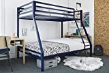Mainstays Twin Over Full Bunk Bed, Multiple Colors, Blue