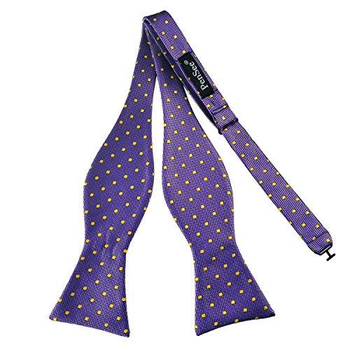 PenSee Herren-Fliege, zum Selbstbinden, klassisches Design mit Punktmuster, gewebte Seide, verschiedene Farben erhältlich -