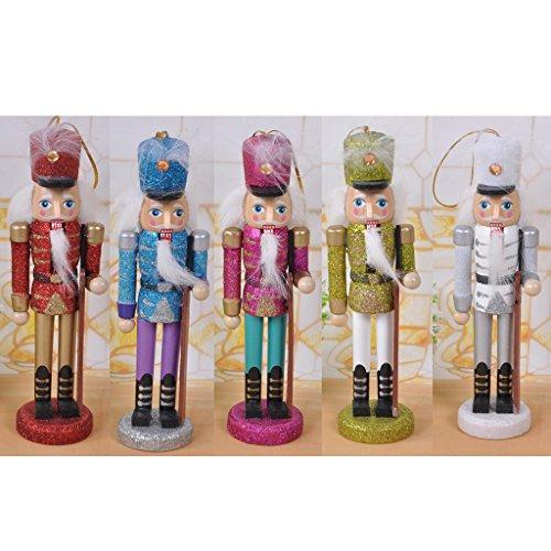 Lot 5pcs Casse Noisette en Bois écossais Collection Cadeaux Figurine 15cm