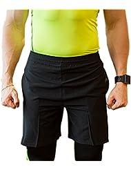 49090064a9a UrChoiceLtd Hommes Shorts à Séchage Rapide Compression Thermique Exécuter  Gym