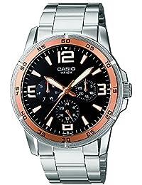 CASIO 19654 MTP-1299D-1A - Reloj Caballero cuarzo brazalete metálico dial negro