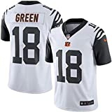 18 A.J. Green Trikot Cincinnati Bengals Jersey American Football Shirt Mens Color Rush Legend White Color Rush Legend Size M(40)