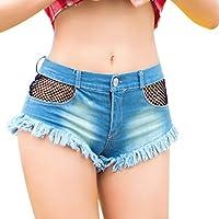 Pantalones cortos de mezclilla para mujeres Pantalones cortos Pantalones cortos para mujeres Pantalones cortos de mezclilla Low-rise Pantalones cortos Pantalones cortos de playa ( Tamaño : S )