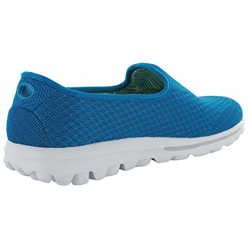 Skechers GOwalk Leichte Slip-on-Sneaker Mischung Turquoise
