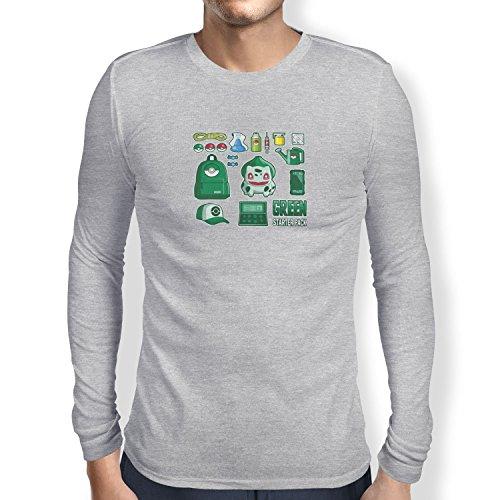 TEXLAB - Green Poke Pack - Herren Langarm T-Shirt Grau Meliert