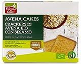 La Finestra Sul Cielo Avenacakes-Crackers di Avena con Sesamo Bio - 3 Pacchi da 5 monoporzioni x 250 g
