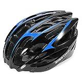 Fahrrad Helme Ultralight atmungsaktiv anti-explosion Helm Fahrrad verstellbar Fahrrad mit abnehmbarem Visier, Blau/schwarz