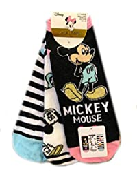 Primark 3 x Calcetines Mujer Mujer Disney Minnie Mickey Mouse Team UK 4-8,