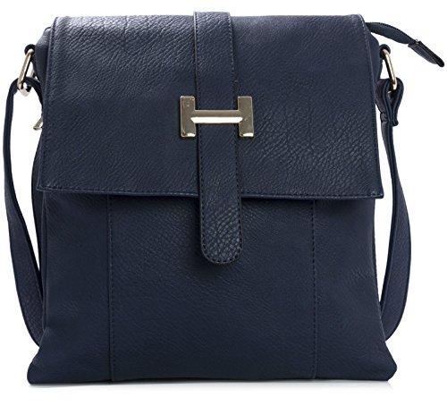 Big Handbag Shop, Borsa a spalla uomo One Blu (Blu)