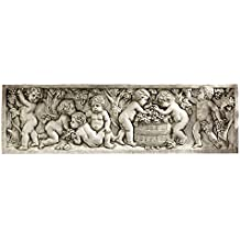 Design Toscano EU41370 Scultura Murale Vendemmia di Settembre, Off Bianco