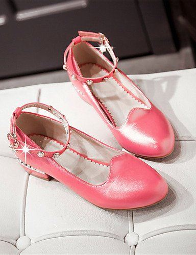 WSS 2016 Chaussures Femme-Mariage / Habillé / Décontracté / Soirée & Evénement-Rose / Rouge / Blanc-Gros Talon-Talons-Talons-Similicuir red-us5.5 / eu36 / uk3.5 / cn35