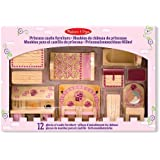 Melissa & Doug Princess Castle Wooden Doll's House Furniture (12 pcs)