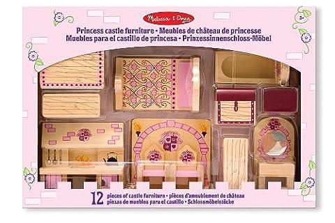 Melissa & Doug Princess Castle Wooden Doll's House Furniture (12