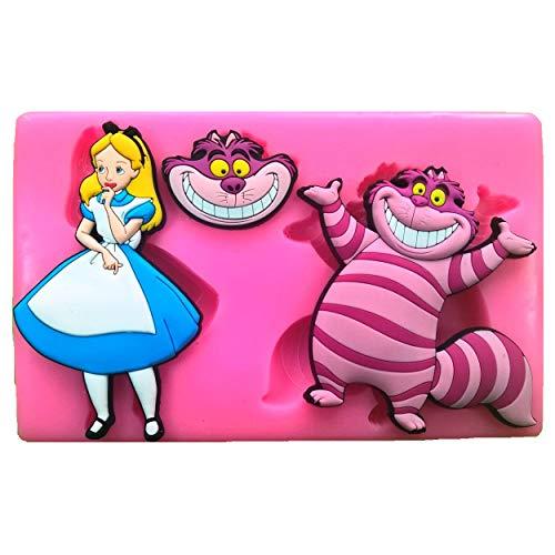 ikonform für Kuchendekoration, Motiv Alice im Wunderland & Grinsekatze, für Zuckerguss ()