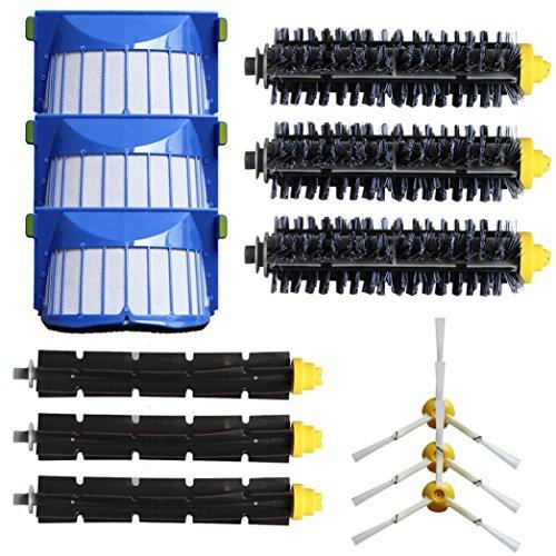 Wiederaufladbare Elektrische Kehrmaschine (für irobot roomba ersatzteile 600 Series 620 630 650 660, FEITONG 3 Armed Side Brush Filter Kit)