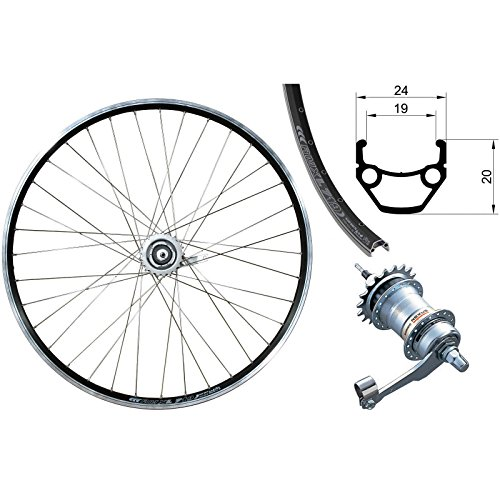 Fahrrad Nabe (28 Zoll Laufrad Hinterrad RMX Alu Hohlkammerfelge geöst mit Shimano 3 Gang Nabe)