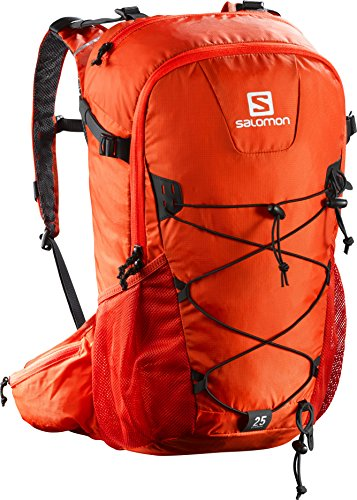 Salomon Evasion 20 - Mochila 20 L, correa para el pecho ajustable, portador de bastones, 45x35x25 cm, naranja