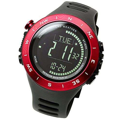 [Lad Wetter] extrem Multifunktionale Armbanduhr Höhenmesser Wettervorhersage Entfernung/Speed/Schritte/Kalorien (Schweizer Computer-rucksack)