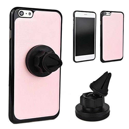 Kroo Support pour téléphone portable pour grille d'aération Berceau Magnétique support de voiture pour Smartphones Bundle pour Apple Iphone 6Plus noir - noir Rose - Rose/noir