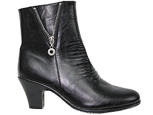 Cushion Walk Womens Side Zip Fashion Boots (UK 6, Black/Zip)