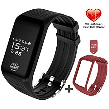 Funbot Fitness Tracker, Activity Tracker Heart Rate Monitor Smart Bracelet Ip67 Waterproof Fitness Watch Sleep Monitor Pedometer Calorie Counter With Replacement Band For Android & Ios 0