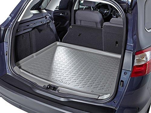 (Fahrzeug auswählen) Kofferraummatte Kofferraumwanne Kofferraumschale grau geruchlos formstabil inklusive Multimatte Ladekantenschutz (Matte Corolla Kofferraum)