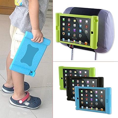TFY Soporte para Reposacabezas de Coche para iPad Mini 4 Infantil – Desprendible Ligero a Prueba de Golpes Anti-deslizamiento Carcasa con Asa de Silicona Suave