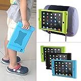 TFY Supporto iPad Mini & Mini 2 Poggiatesta Auto per Bambini – Smontabile Leggero Anti-Urti Anti-Scivolo Silicone Morbido Cover Maniglia - (iPad Mini & Mini 2 & Mini 3, verde) immagine