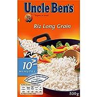 Uncle Ben's Riz Long Grain Cuisson en 10 Minutes La boîte de 500g - Prix Unitaire - Livraison Gratuit Sous 3 Jours