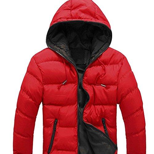 Meijunter Confort En vrac Encapuchonné Svelte Des sports Coat Sous-Vêtement red