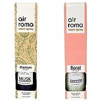 AirRoma Combo of Musk Fragrance Air Freshener Spray 200 ml & Jasmine Flower Fragrance Air Freshener Spray 200 ml