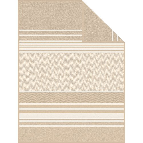 Ibena Jacquard Decke Prato beige/braun | 150 x 200 cm