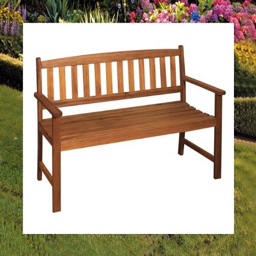 2-Sitzer Gartenbank Holz Bank Trop. Hartholz Nr. 960278 - 3