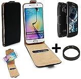 K-S-Trade TOP Set für Archos Sense 50X 360° Flipstyle Schutz Hülle Smartphone Tasche schwarz + TPU Bumper, Case Hülle Flip Cover für Archos Sense 50X