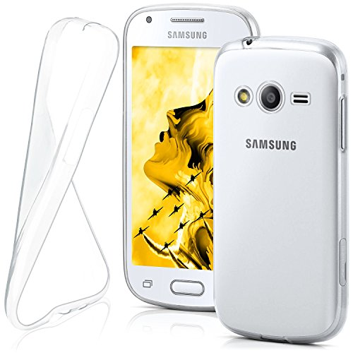 moex Samsung Galaxy Ace 4   Hülle Silikon Transparent Klar Clear Back-Cover TPU Schutzhülle Dünn Handyhülle für Samsung Galaxy Ace 4 Case Ultra-Slim Silikonhülle Rückseite