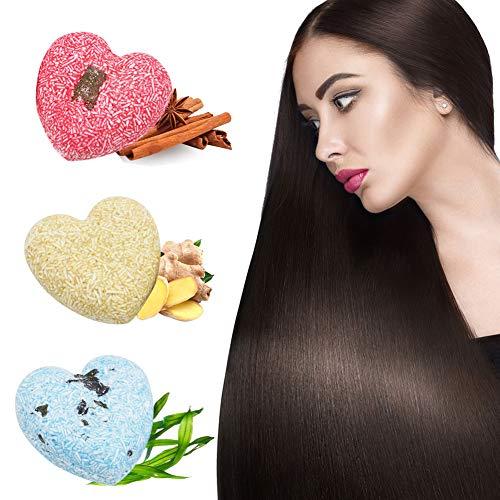 Shampoo Bar Haarseife,Natürliches Pflanzliches Haarpflege Anti-Haarausfall Anti