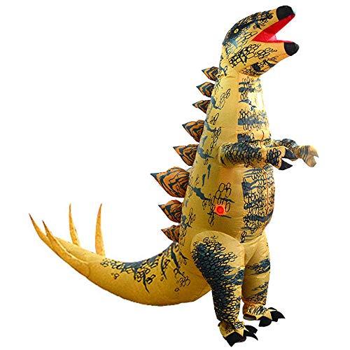 (YOWESHOP Aufblasbares Kostüm für Erwachsene, aufblasbar, Stegosaurus, Dinosaurier, Kostüm, Party-Spielzeug)