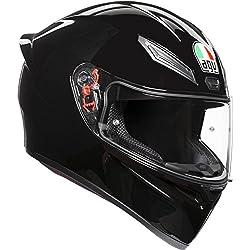 AGV Casco, casco Sólido, de color negro, viene en tallas, mediana y grande, modelo K1 E2205