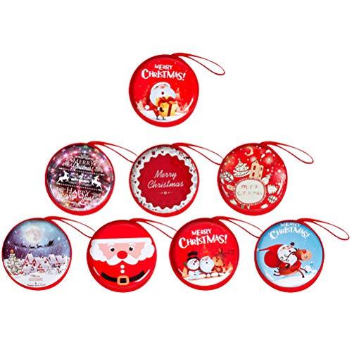 Hängen Dekor - Toyvian 8 stücke Weihnachtsschmuck Runde Tasche