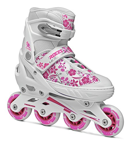 Roces Compy 8.0 Pattino Inline Bambina, Bianco, 34-37