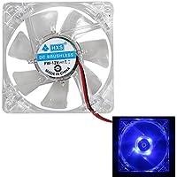 Asiproper Asidue - 2 ventiladores de 80 mm 80 x 25 mm, 4 LED azules de 4 pines para ordenador PC caso enfriador