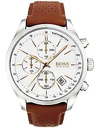 bf5cf7255ac8 Hugo BOSS Homme Chronographe Quartz Montres bracelet avec bracelet en Cuir  - 1513475